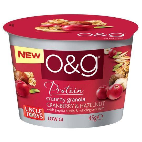 Uncle Tobys O&g Crunchy Granola Cranberry & Hazelnut Cup