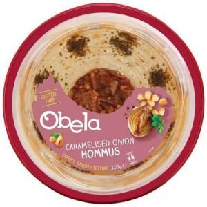 Obela Caramelised Onion Garnished Hommus