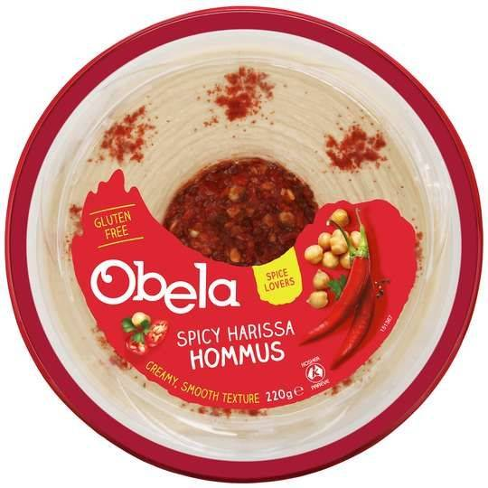 Obela Spicy Harissa Garnished Hommus