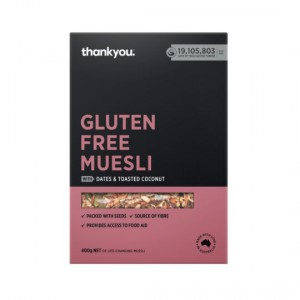 Thankyou. Gluten Free Muesli With Dates & Toasted Coconut