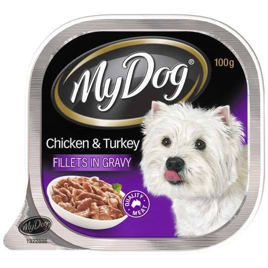 My Dog Adult Dog Food Chicken And Turkey Fillets In Gravy