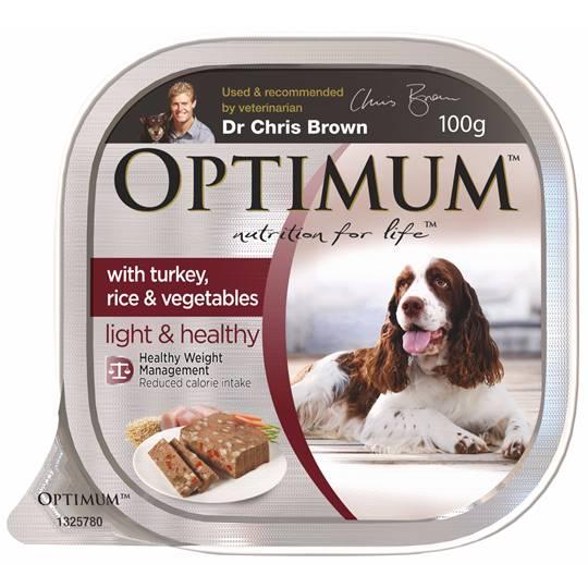 Optimum Adult Dog Food Light & Healthy With Turkey, Rice & Vegetables