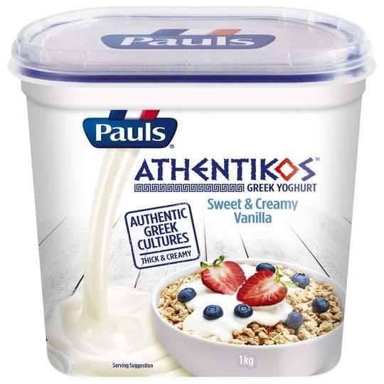 Pauls Athentikos Greek Yoghurt Sweet & Creamy Vanilla