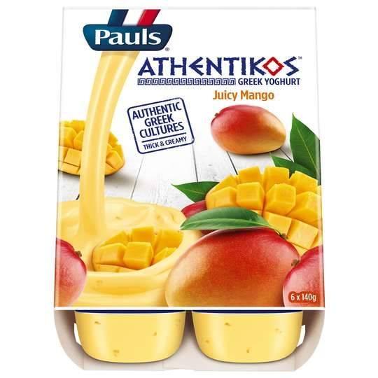 Pauls Athentikos Greek Yoghurt Juicy Mango