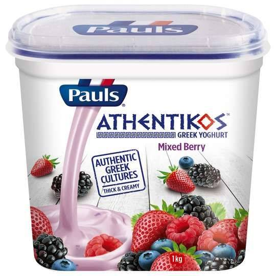 Pauls Athentikos Greek Yoghurt Mixed Berry