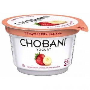 Chobani Strawberry Banana Yoghurt