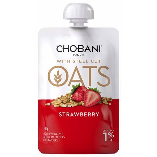 Chobani Strawberry With Steel-cut Oats Yoghurt Pouch