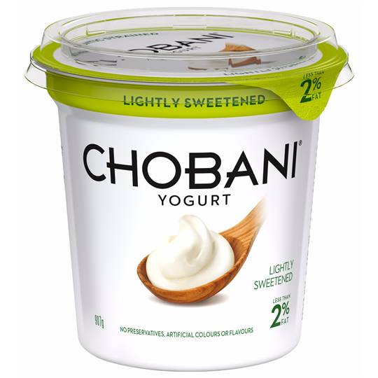 Chobani Lightly Sweetended Yoghurt