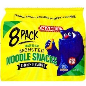 Mamee Noodle Snacks Chicken 8pk