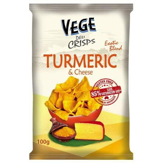 Vege Deli Crisps Tumeric & Cheese