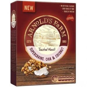 Arnolds Farm Toasted Muesli Supergrains, Chia & Coconut