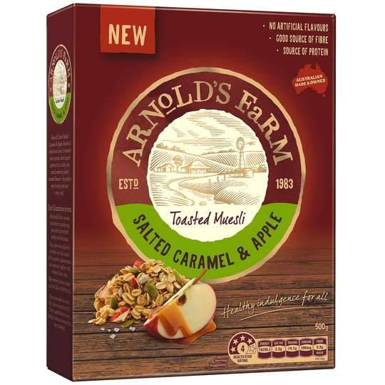 Arnolds Farm Toasted Muesli Salted Caramel & Apple