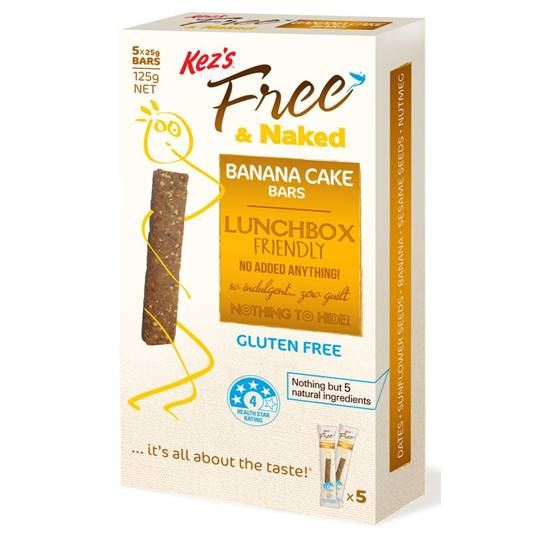 Kez's Free & Naked Bar Banana Cake