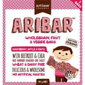 Artisse Organic Aribar Wholegrain Bars Raspberry Apple & Oats