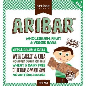 Artisse Organic Aribar Wholegrain Bars Apple Raisin & Oats