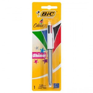 Bic Ball Point Pen Shine 4 Colour