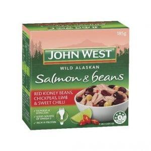 John West Salmon Beans Sweet Chilli & Lime