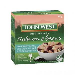 John West Salmon Beans Sea Salt Cracked Pepper