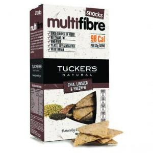 Tuckers Multifibre Crackers Chia Linseed Freekeh