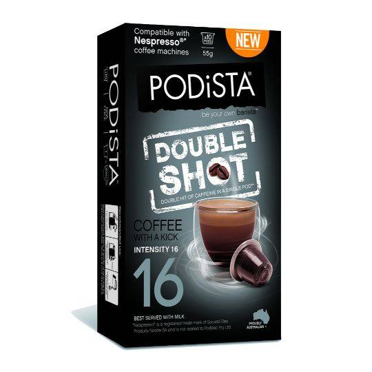 Podista Double Shot Coffee Pods 10pk