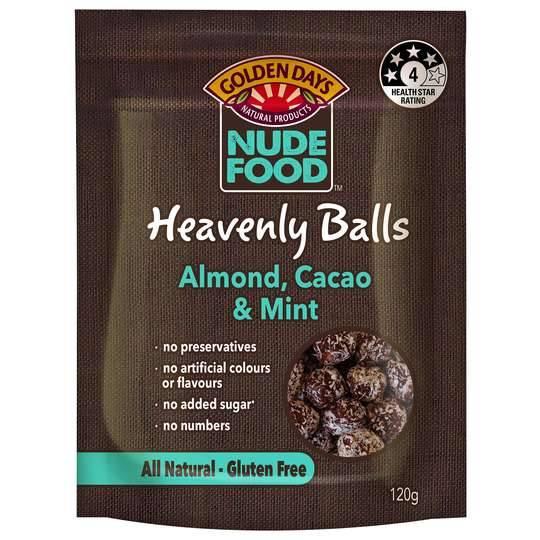 Golden Days Nude Food Balls Almond & Mint