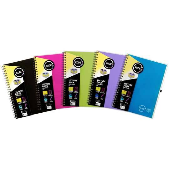 Spirax Lecture Book A4 Assorted Colours