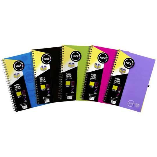 Spirax Notebook A4 Assorted Colours