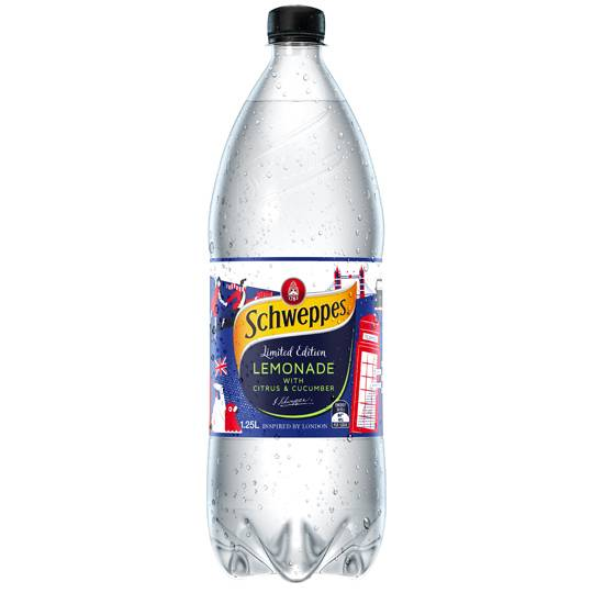 Schweppes Lost In London Lemonade With Citrus & Cucumber