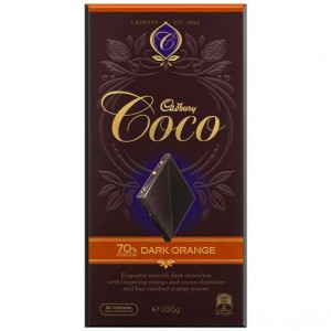 Cadbury Coco Dark Chocolate 70% Dark Orange