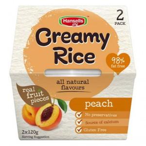 Hansells Creamy Rice Peach