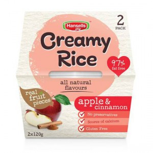 Hansells All Natural Creamy Rice Apple