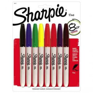 Sharpie Marker Fine 8 Colour Set