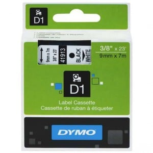 Dymo Label Tape Black On White