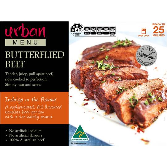 Urban Menu Butterflied Beef
