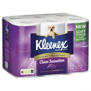 Kleenex Toilet Tissue Clean Sensation