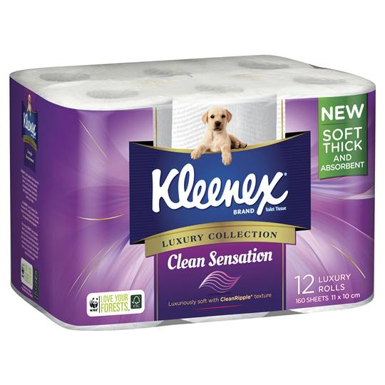 Kleenex Toilet Tissue Clean Sensation