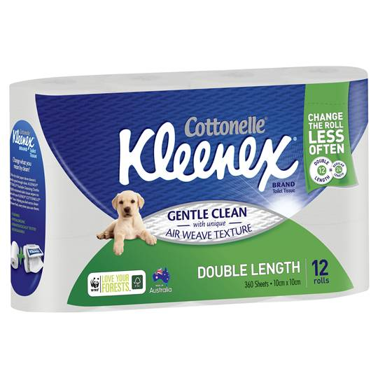 Dennis12 reviewed Kleenex Cottonelle Toilet Tissue Double Length