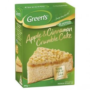 Greens Apple Crumble Cake Mix