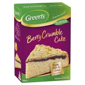 Greens Berry Crumble Cake Mix