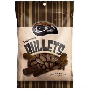 Darrell Lea Licorice Bullets Dark Chocolate
