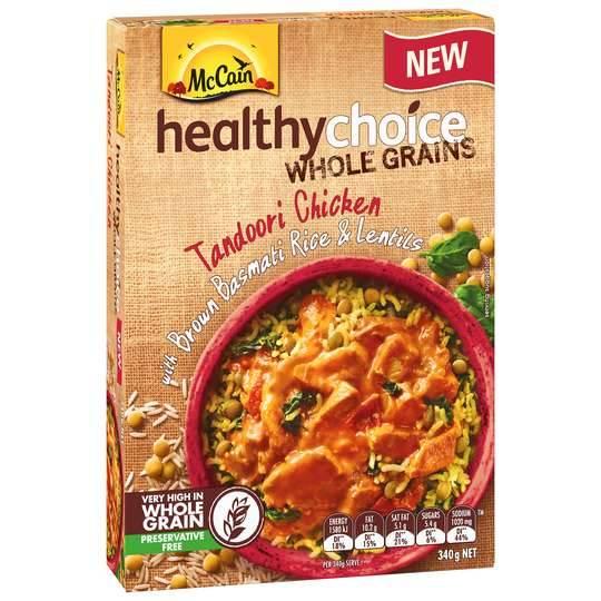 Mccain Healthy Choice Wholegrains Tandoori Chicken