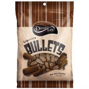Darrell Lea Licorice Bullets Milk Chocolate
