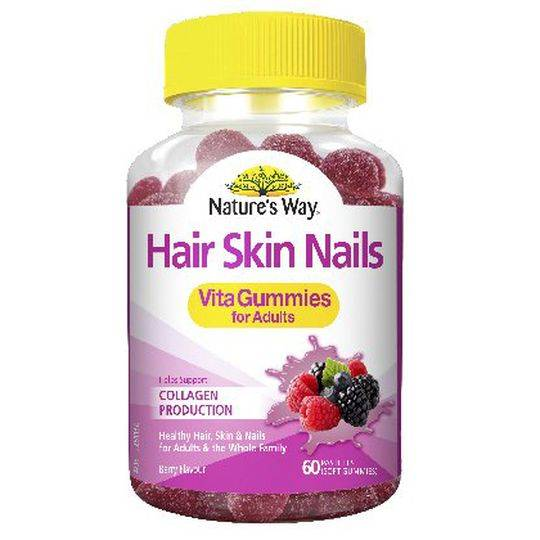 Nature's Way Adult Vita Gummies Hair Skin & Nails