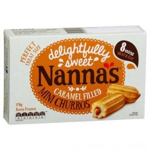 Nannas Mini Salted Caramel Filled Churros