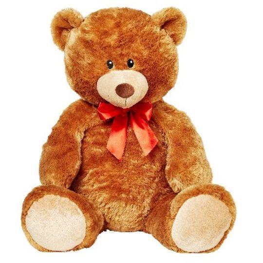 Plush Toy Jumbo Sitting Bear With Bow