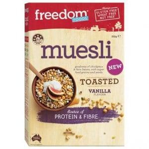 Freedom Foods Toasted Muesli Vanilla