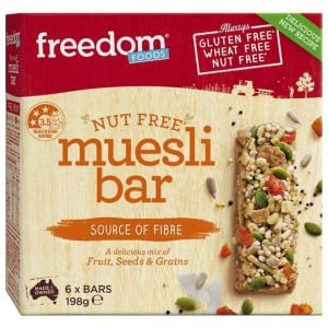 Freedom Foods Nut Free Muesli Bar 6pk