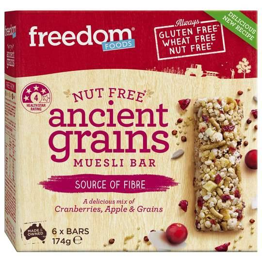 Freedom Foods Ancient Grains Muesli Bar 6pk