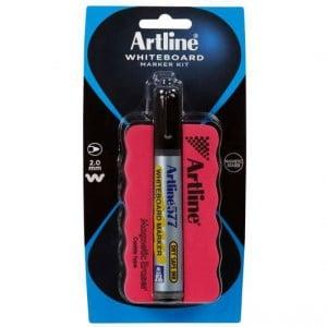 Artline Whiteboard Marker Magic Eraser Caddy