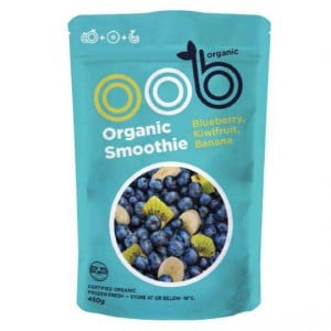 Oob Organic Frozen Smoothie Blueberry, Kiwifruit & Banana